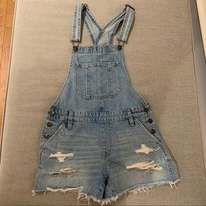 Abercrombie & Fitch Denim Shorts Overalls